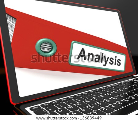 Analysis File On Laptop Showing Analyzed Data Or Verified Information