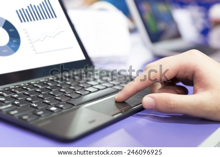 analysis financial report on laptop