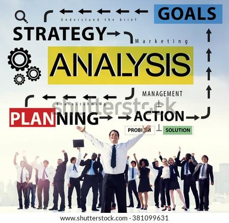 Analysis Information Data Planning Strategy Analytics Concept - stock photo