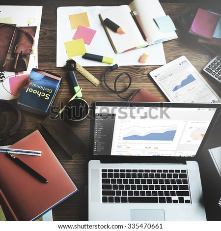 Analysis Information Strategy Report Facts Data Concept - stock photo