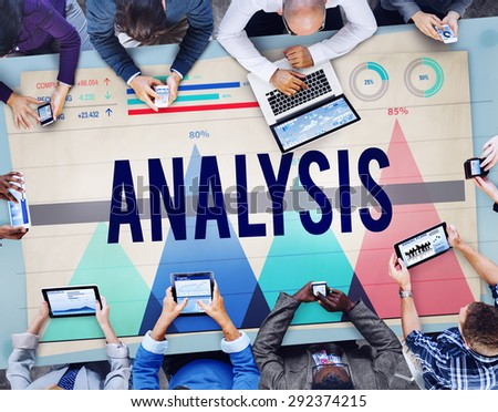 Analysis Planning Information Statistics Insight Concept - stock photo