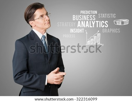 Analyst. - stock photo