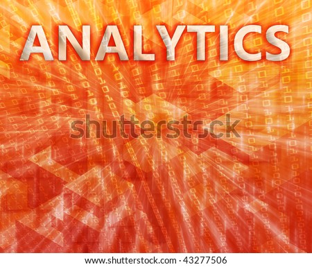 Analytics Business intelligence abstract, computer technology concept illustration - stock photo
