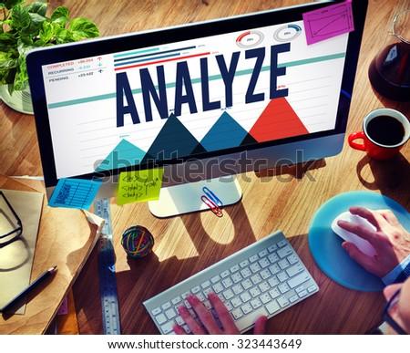 Analyze Data Analysis Strategize Information Concept - stock photo