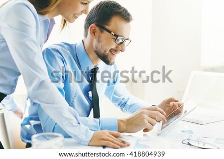 Analyzing data - stock photo