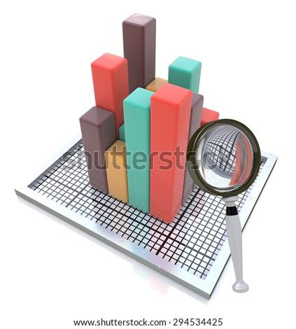 Analyzing the Data  - stock photo