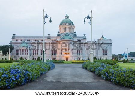 Anantasamakhom Throne Hall in Bangkok, Thailand (Italian neo-classical architecture) - stock photo