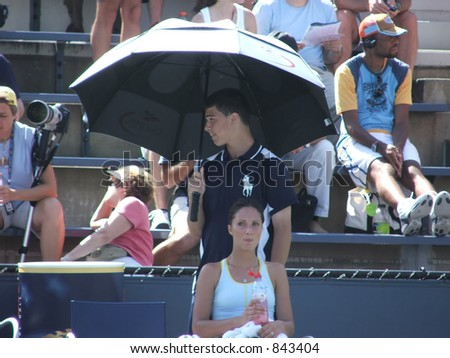 Anastasia Myskina Resting Between Games - stock photo