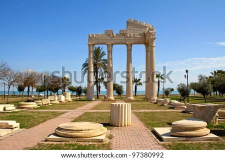 anatolia archaeology - stock photo