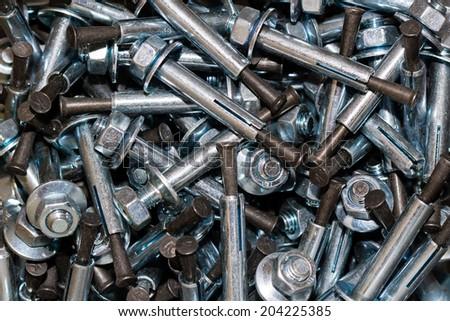 Anchor bolts - stock photo