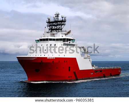 Anchor Handler B, advanced offshore vessel.. - stock photo