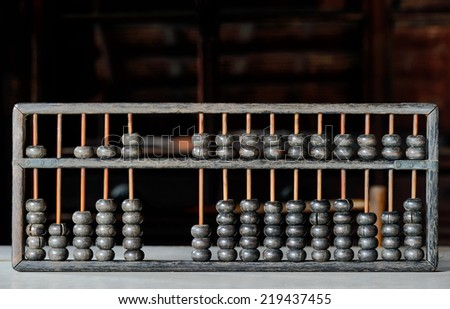 Ancient abacus. - stock photo