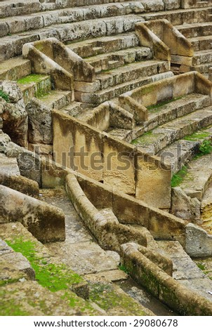 Ancient Acropolis theater, Italy. - stock photo