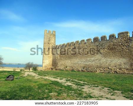 Ancient Akkerman fortress at Belgorod-Dnestrovsk y, near Odessa, Ukraine - stock photo
