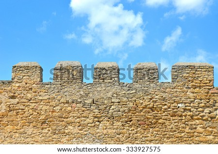 Ancient Akkerman fortress at Belgorod-Dnestrovsky, near Odessa, Ukraine - stock photo
