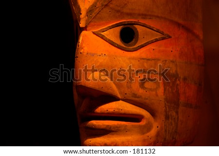 Ancient American Indian mask - stock photo