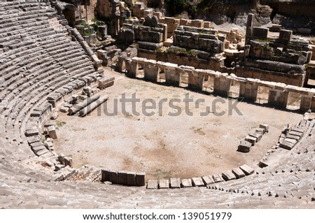 Ancient amphitheater in Myra (Turkey)