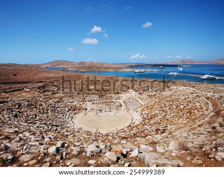 Ancient Amphitheater on Delos - stock photo
