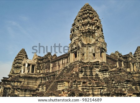 Ancient Angkor Wat in Cambodia