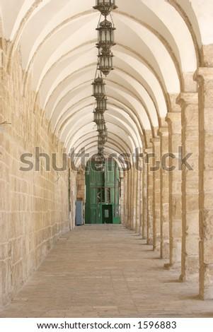 Ancient arche way, - stock photo