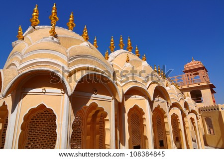 Ancient architecture. India, Delhi. - stock photo