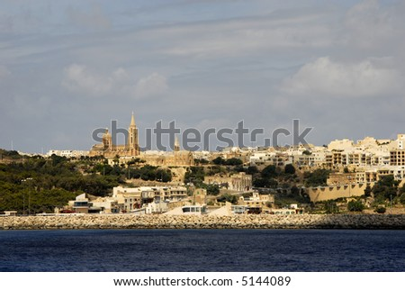 ancient architecture of gozo island in malta