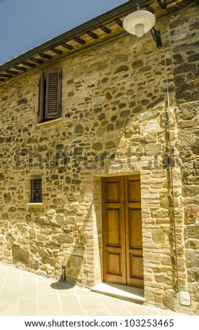 Ancient Architecture of Tuscan Small Town