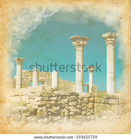 Repina valeriya 39 s ancient culture set on shutterstock for Classic columns paper