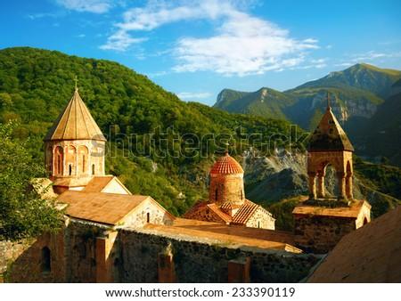 Ancient Armenian monastery - stock photo