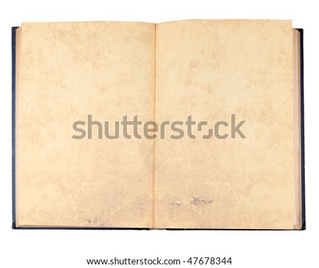 Ancient book isolated on a white background - stock photo