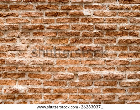 Ancient brick wall, ideal for backgrounds - stock photo