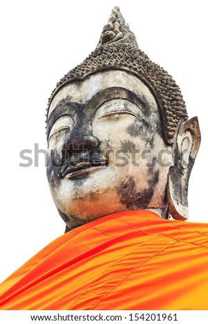 Ancient Buddha - stock photo