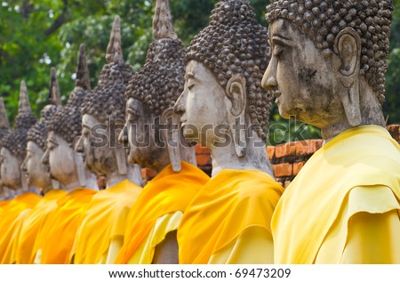 Ancient Buddha. - stock photo