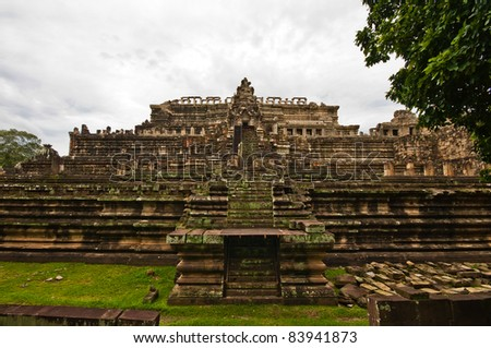 Ancient buddhist khmer temple in Angkor Wat, Cambodia. Baphuon Prasat
