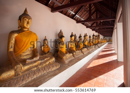 Ancient Buddhist temple, Thailand