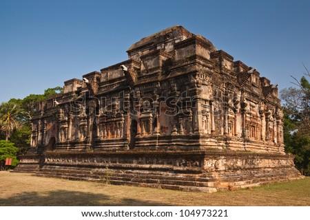 Ancient building in Polonnaruwa, Sri-Lanka, UNESCO World Heritage Site. - stock photo