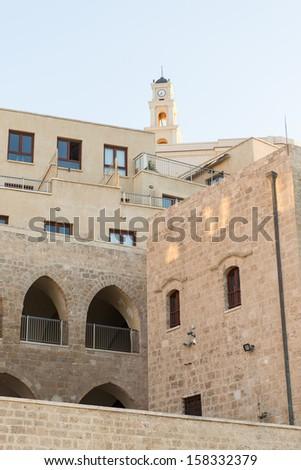 Ancient buildings in Jaffa (Tel aviv), Israel - stock photo