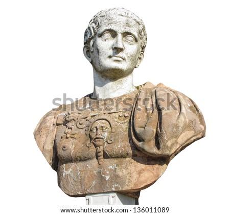 Ancient bust in Potsdam Sanssouci - stock photo