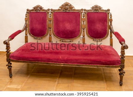 Ancient carved sofa, 18th century