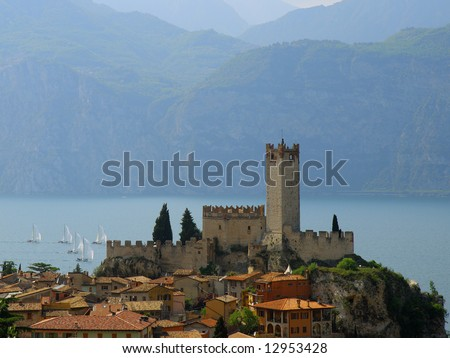 Ancient castle in Malcesine, Italy