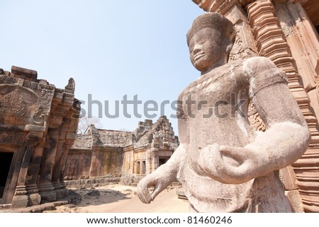 Ancient castle (Panomrung) - stock photo