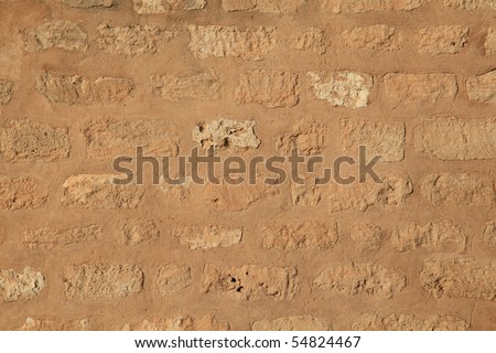 ancient castle stone wall texture - stock photo