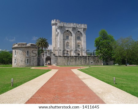 Ancient castle tower - stock photo