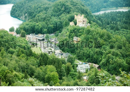 ancient castles in Germany - stock photo