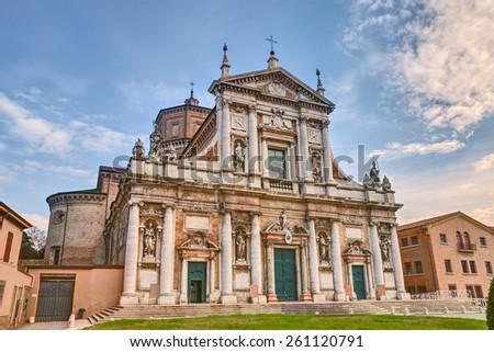 ancient cathedral of S. Maria in Porto in Ravenna - renaissance catholic church in Emilia Romagna, Italy - stock photo