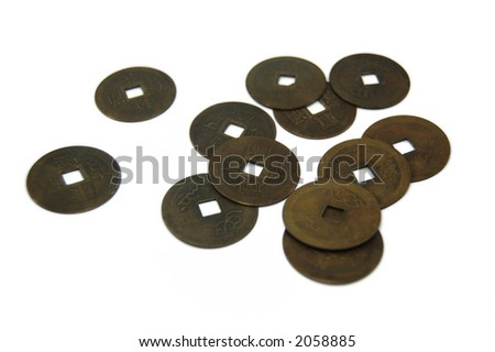 Ancient Chinese Coins - stock photo