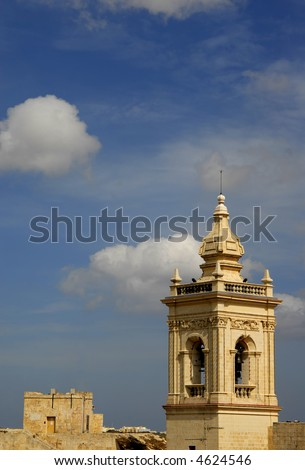ancient church detail in the island of malta - stock photo