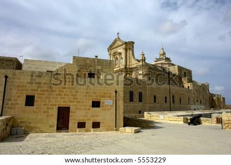 ancient church in the island of Gozo, Malta - stock photo