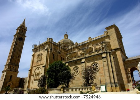 ancient church malta in the island of gozo - stock photo