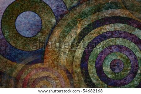 Ancient circles - stock photo